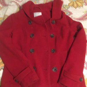 Cute Women's red pea coat.